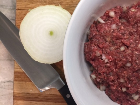Raw Bison with Onions