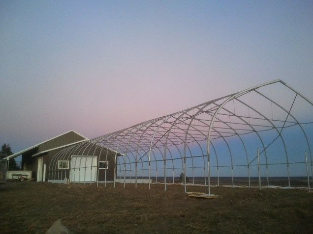 December 2012 - we ALMOST finished our greenhouse!