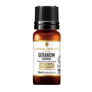 Amphora Aromatics Geranium Bourbon Organic Essential Oil
