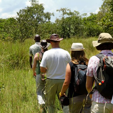 Walking-safari-in-South-Luangwa,-Zambia-(1)