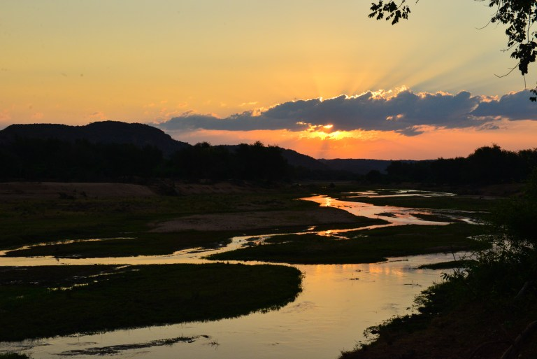 Sunset over the Luvhuvhu river