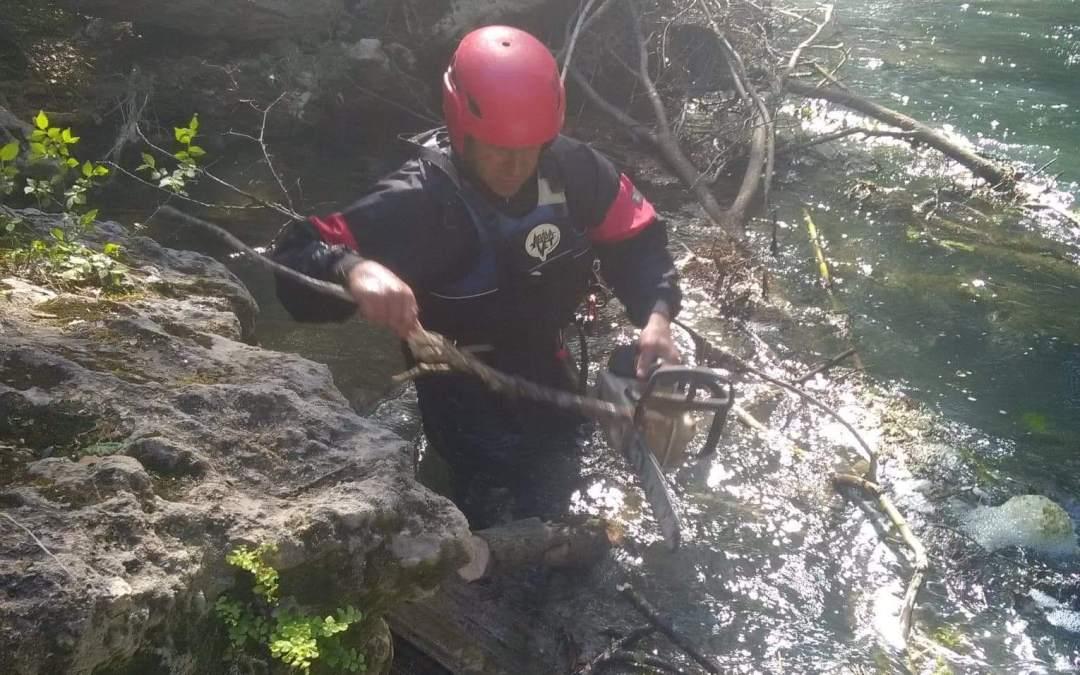 Nettoyage et sécurisation du fleuve Argens, un énorme travail !