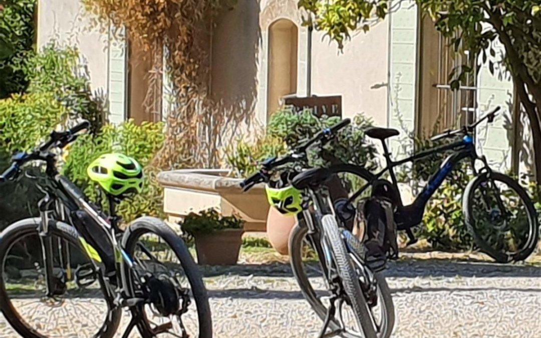 E-bike dans la campagne de la Cadière d'Azur
