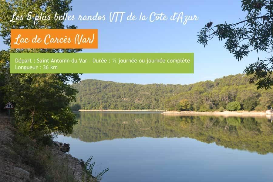 Rando VTT au lac de Carcès Var