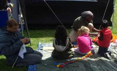 Nature Vibezzz Lambeth London free flag making forest school