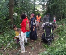 Knights Hill Wood Capital Clean Up 27-6-16 Lambeth Nature conservation Home education free community activity
