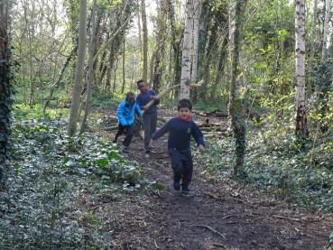 Granton Primary 2nd Year Forest school activity Lambeth-11