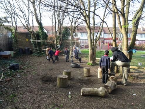 Granton Primary School forest school after school activity Lambeth-1