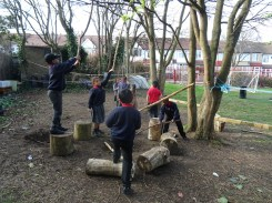 Granton Primary School forest school after school activity Lambeth-2