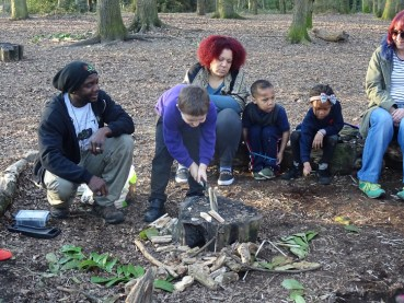 Second free forest school after school activity at Fern Lodge Estate Lambeth-10