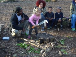 Second free forest school after school activity at Fern Lodge Estate Lambeth-7