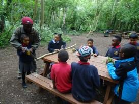 Granton Primary school after school forest school Lambeth London-1