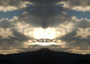 Das Gesicht am Himmel