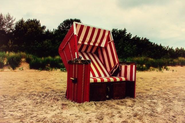 Strandkorb bei Prora