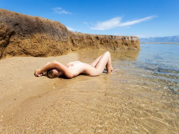 unofficial nudist beach