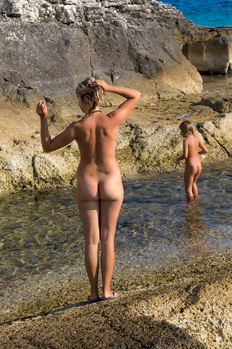 Nudist family Croatia