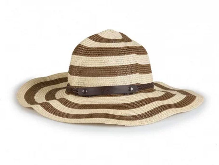 Brown Striped Sun Hat