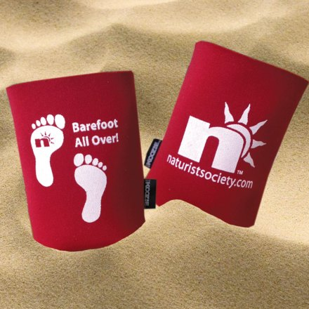 Barefoot All Over Can Koozie