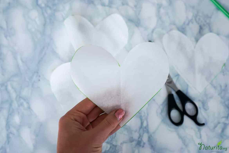 Herzform ausschneiden