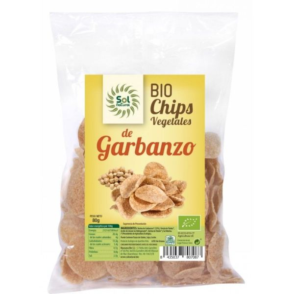 1693 Chips garbanzo SOL NATURAL 80 gr BiO