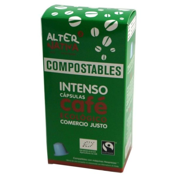 1947 Cafe intenso ALTERNATIVA 3 10 capsulas COMPOSTABLES BIO