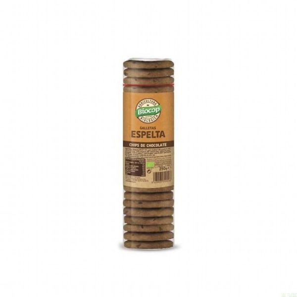 2808 Galleta espelta chips choco BIOCOP 250 gr BIO
