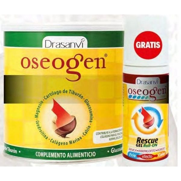 3230 OFERTA Oseogen polvo Rescue gel roll on DRASANVI