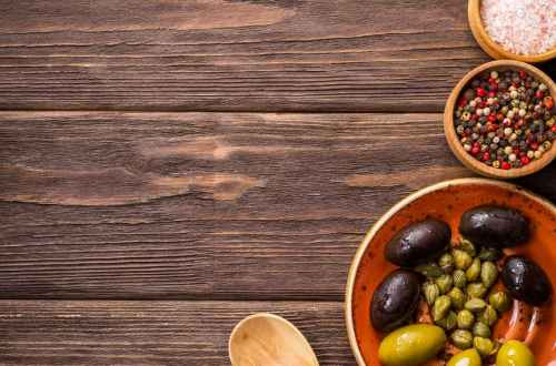 fruits eating food on wood