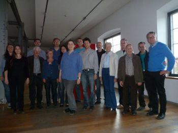 Die bestätigte Naturschutzanwältin, Katharina Lins, mit Stellvertreterin Anna Pichler und Vertretern der Naturschutzorganisationen.