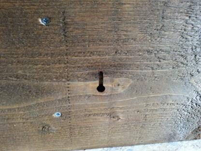 Kapstok van Steigerhout sleutelgat-ophangpunt voor onzichtbare bevestiging