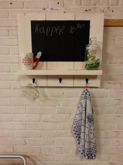 Memobord van Steigerhout in White-wash