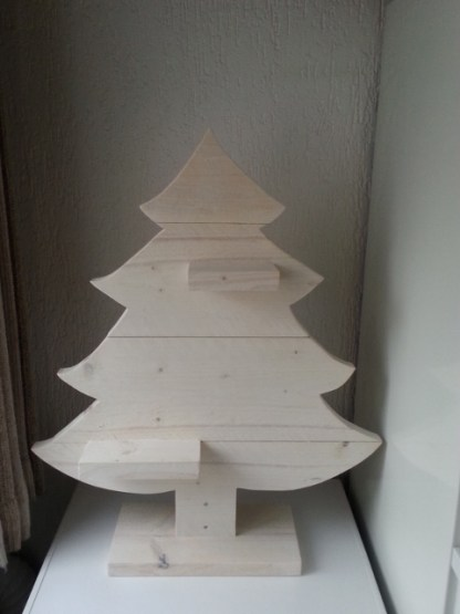 Kerstboom van Steigerhout in White-wash