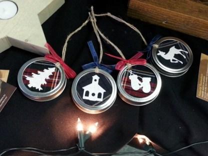 Kerstboomhanger Mason Jar diverse afbeeldingen