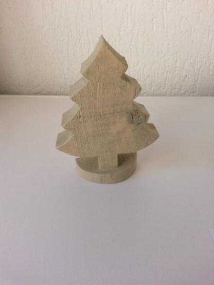 Kerstboompje van Steigerhout klein in Grey-wash