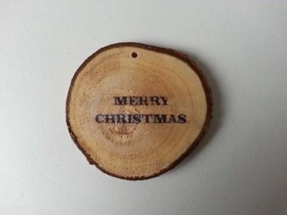 Boomschijfhanger voor de Kerstboom met Merry Christmas