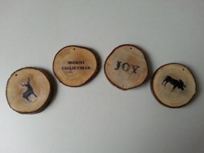 Boomschijfhanger voor de Kerstboom met diverse afbeeldingen
