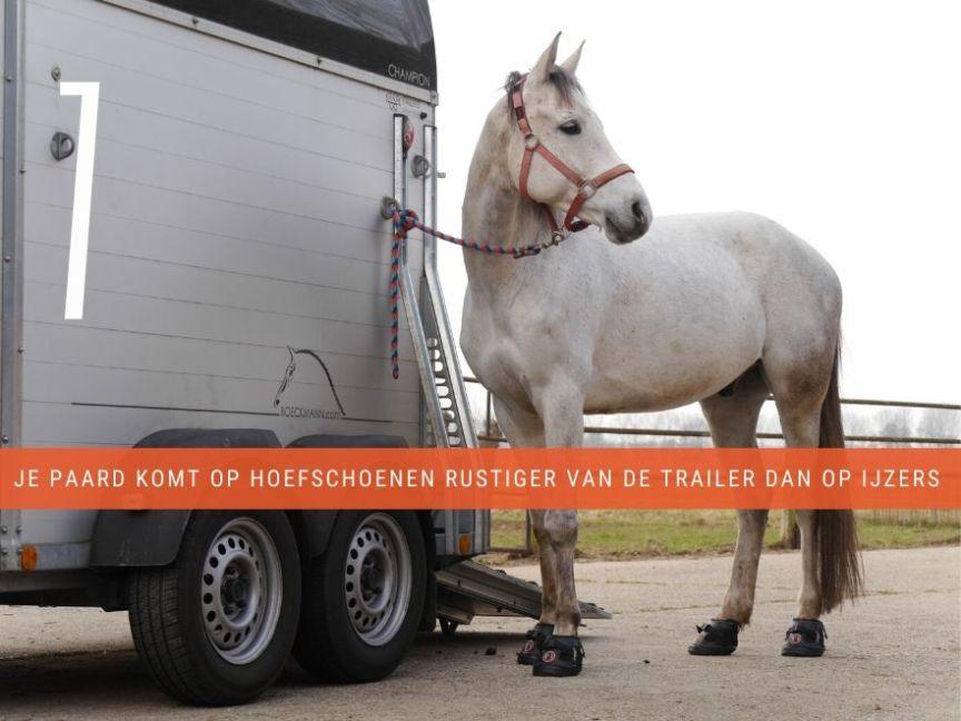 hoefschoenen op trailer