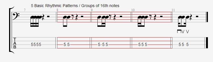 16th note permutations