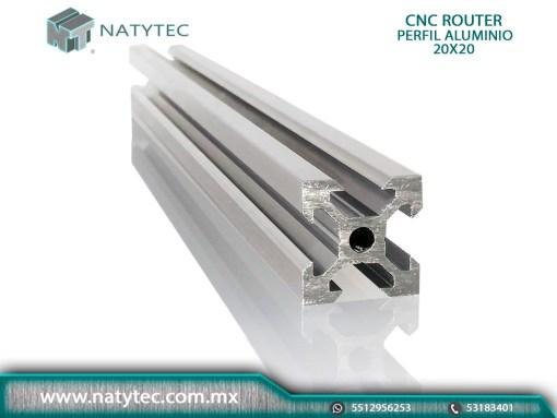CNC Router Perfil Aluminio Anodizado