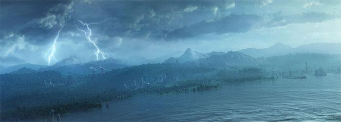 Cadenas en el lago