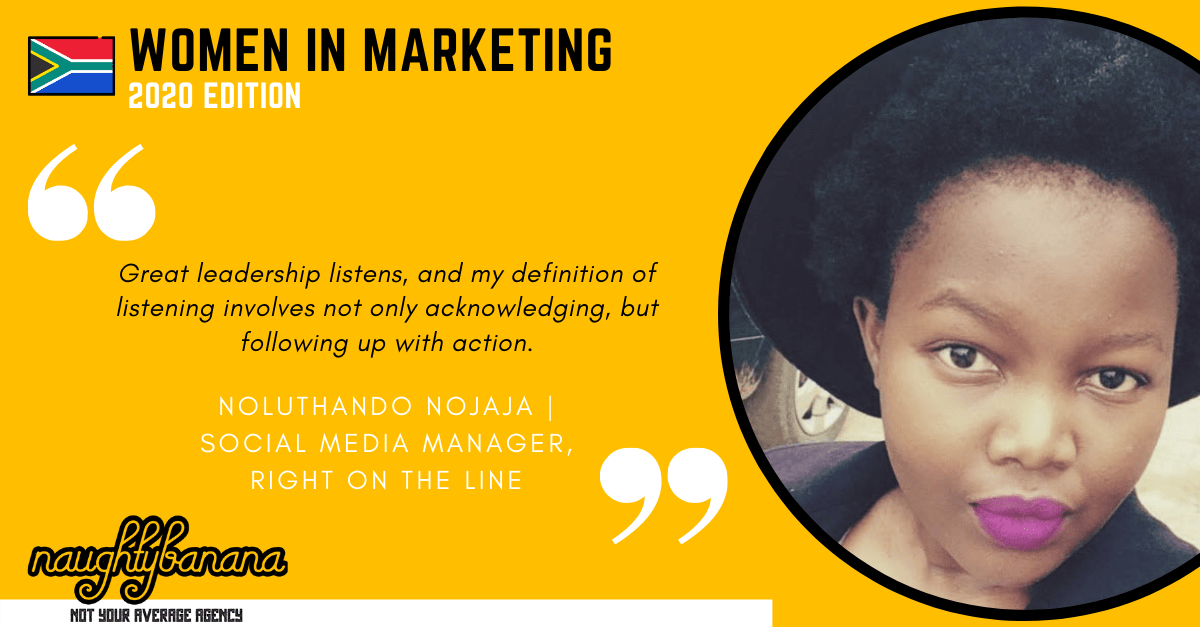 Noluthando Nojaja, LinkedIn, Women In Marketing (Yellow)