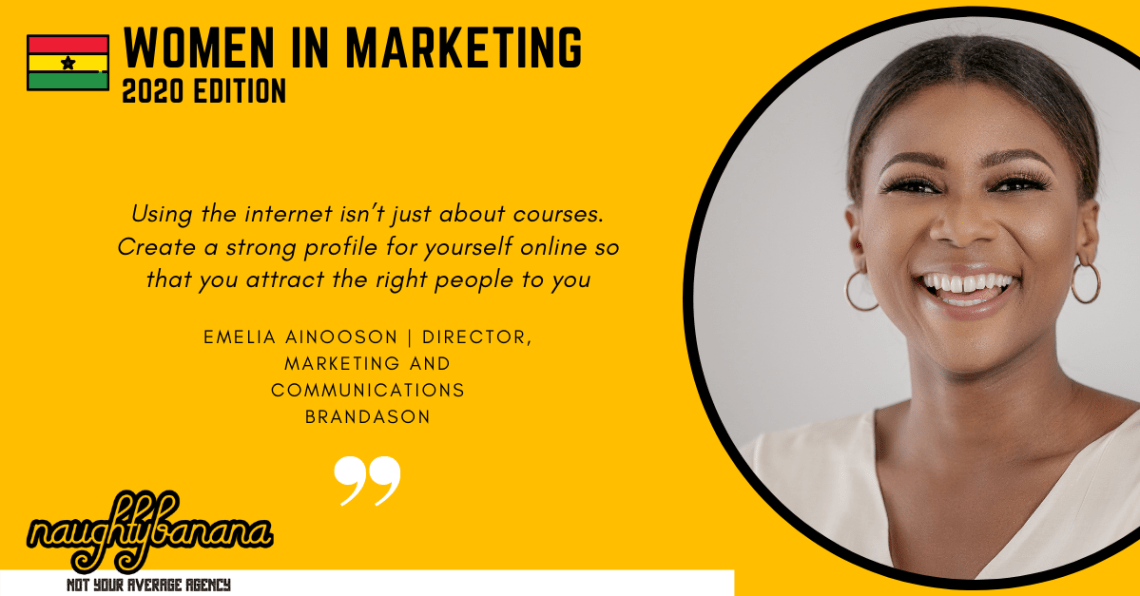 Emelia Ainooson, LinkedIn, Women In Marketing (Yellow)