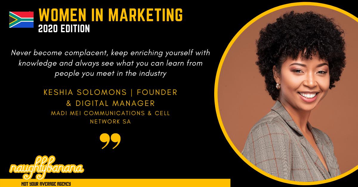 Keshia Solomons, LinkedIn, Women In Marketing (Black) (1)