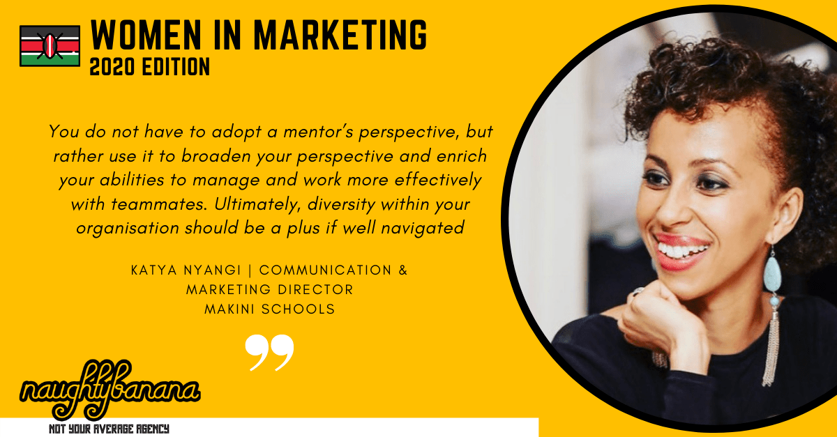 Katya Nyangi, LinkedIn, Women In Marketing (Yellow)