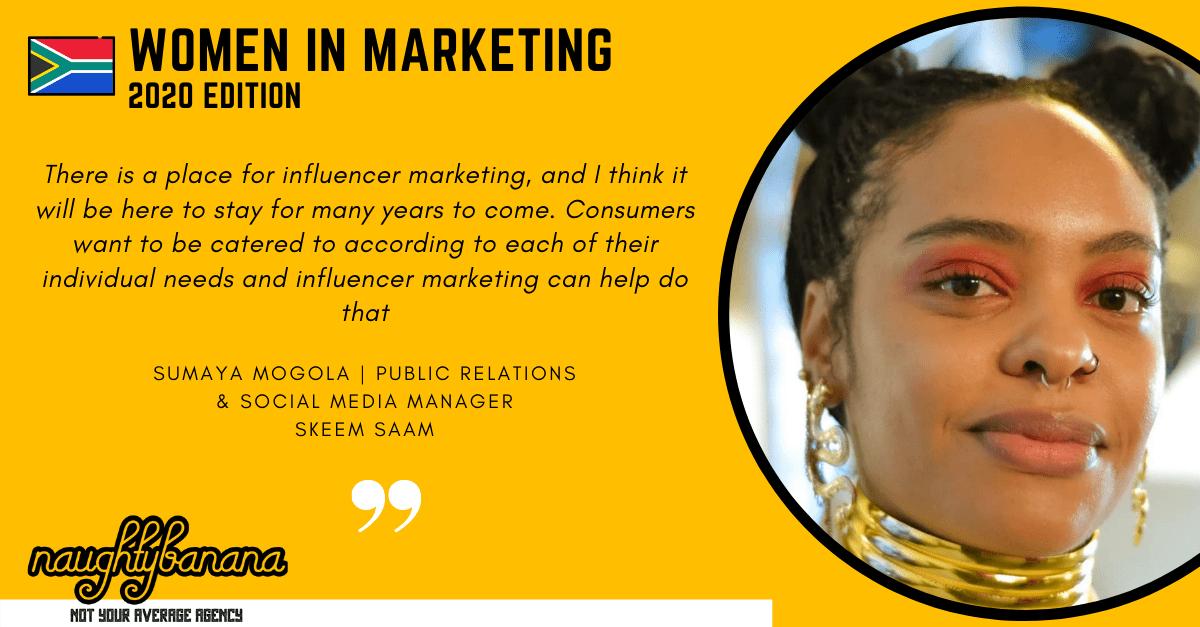 Sumaya Petersen Mogola, LinkedIn, Women In Marketing (Yellow)