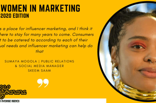 Sumaya Petersen Mogola, LinkedIn, Women In Marketing (Yellow)