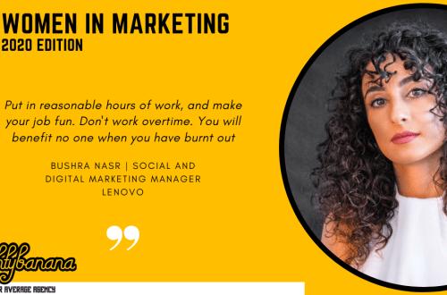 Bushra Nasr, LinkedIn, Women In Marketing (Yellow)