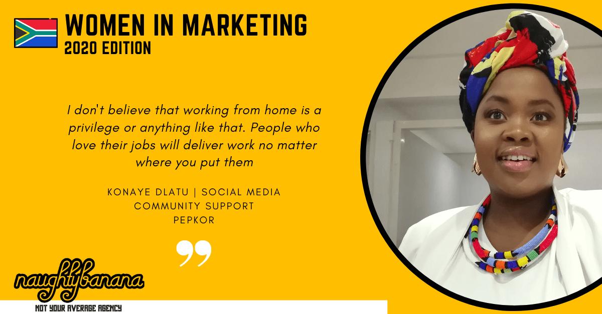 Konaye Dlatu, LinkedIn, Women In Marketing (Yellow)