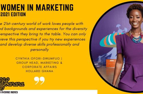 Cynthia Ofori-Dwumfuo, LinkedIn, Women In Marketing (Yellow)
