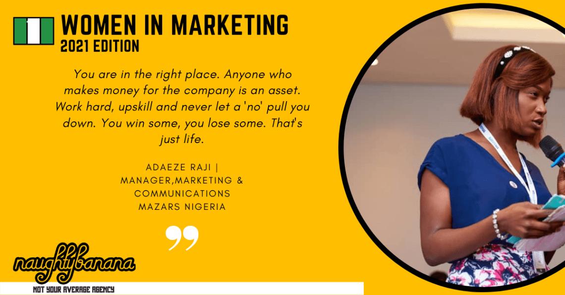Adaeze Raji, LinkedIn, Women In Marketing (Yellow)